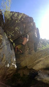 Fun problem at a boulder in Tanque Verde Canyon.