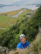 Rock Climbing Photo: Ross at the top, fifty eight years after making th...