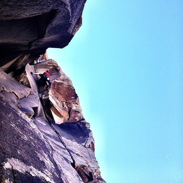 Jason making the crux look easy.