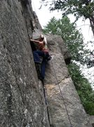 Rock Climbing Photo: Ashley starting up Good Clean Fun.
