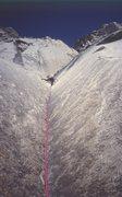 Rock Climbing Photo: The first pitch Super Direct.  First ascent 31 Jul...