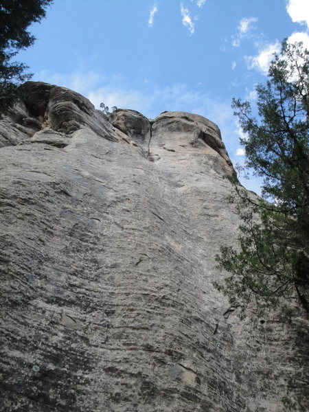 Rock Climbing Photo: Sweet Sandstone climbs straight up to the crack.