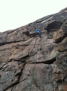 Rock Climbing Photo: Josh climbing Bee Positive.