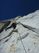 Rock Climbing Photo: Second pitch. Clean AK granite is hard to come by