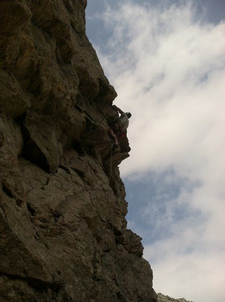 Rock Climbing Photo: Ryan leading FFD.