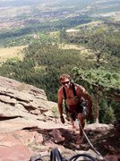 Rock Climbing Photo: Steve T finishing the first pitch, barefoot. (jerk...