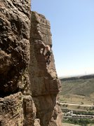Rock Climbing Photo: Steve Thomas sending PFV.