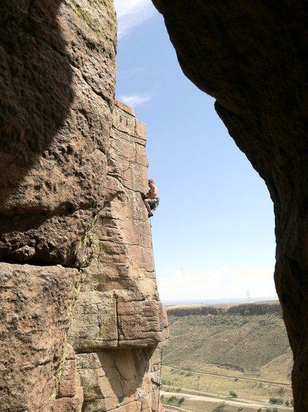 Rock Climbing Photo: Steve T. leading Lemons, Limes, and Tangerines.