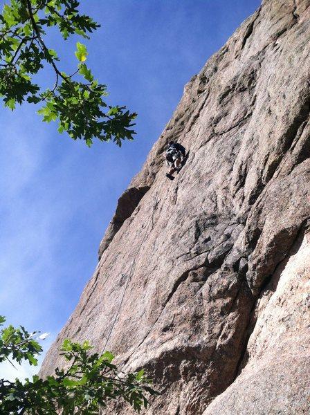 Rock Climbing Photo: Ben Larson leading Amp Left.