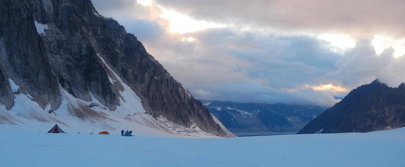 Rock Climbing Photo: Glacier camp life