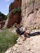 Rock Climbing Photo: Sweet belay rock at Shelf