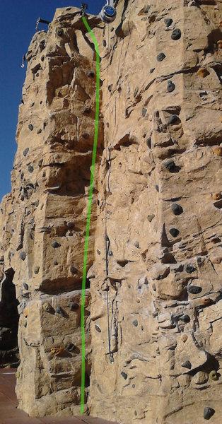 Rock Climbing Photo: Detail photo of the main climb