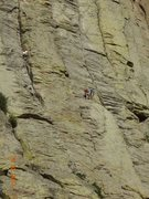 Rock Climbing Photo: Ernesto and I made it to the top of Pitch 1 on El ...