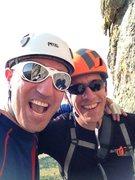 Rock Climbing Photo: Made it.