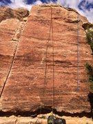 Rock Climbing Photo: Mustachio beta.