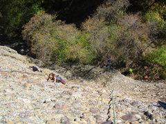 Rock Climbing Photo: An unknown climber on Full Moon Monkey.  Taken on ...