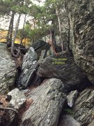Rock Climbing Photo: This photo shows how to locate 'Bejesus' from just...