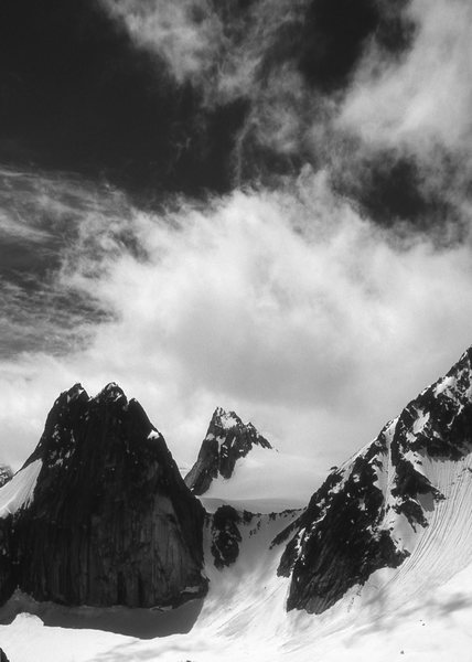 Rock Climbing Photo: Bugaboo Col, Pigeon and Snowpatch