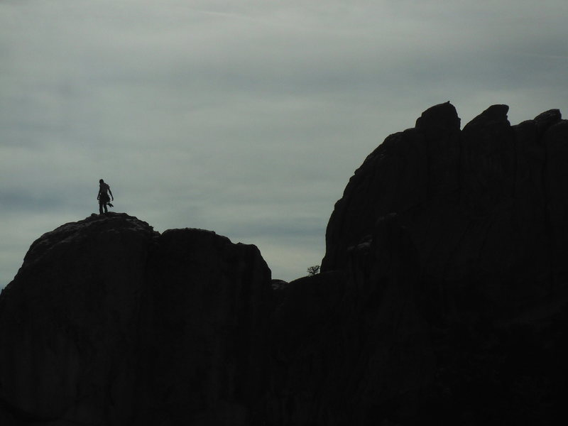 Rock Climbing Photo: A view from Upper Comp. Unknown climber atop Brack...