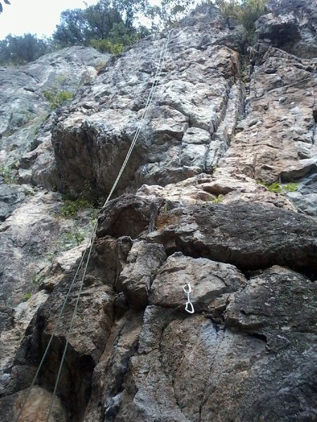 Rock Climbing Photo: Dok ju with the rope in the anchors