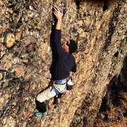 Rock Climbing Photo: Craig Olsen midway up the route.