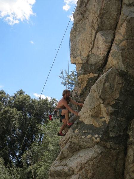 Rock Climbing Photo: Matt jammin through the fun slab work on The Natur...