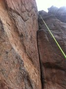 Rock Climbing Photo: The fourth pitch.
