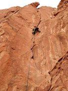 Rock Climbing Photo: Workin' Snuggles last fall.