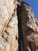 Rock Climbing Photo: The third pitch.