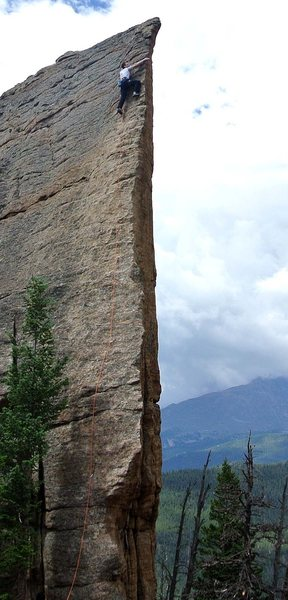 Rock Climbing Photo: Edge of Time, Jurassic Park, Lily Lake, Estes Park