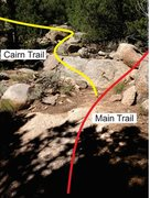 Rock Climbing Photo: Where the trail splits from the main trail and hea...