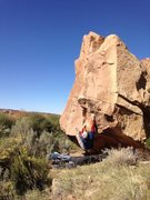 Rock Climbing Photo: Left hand on the starting hold with right hand mov...