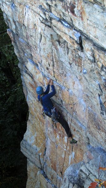 Ritwik about to hit the crux
