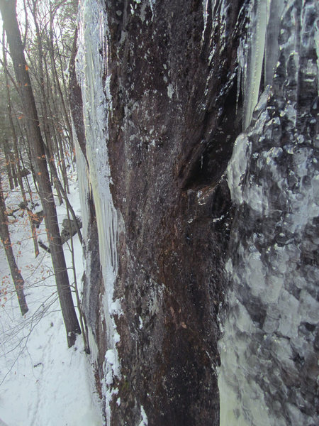 Ice climbs in Branford, CT...