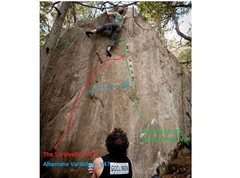 Rock Climbing Photo: Electric Chair is the right hand variant