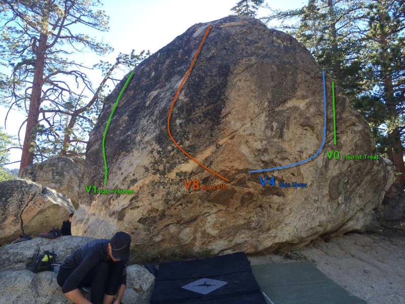 Beta photo for the south side of Ranger Station Rock @POUND@2