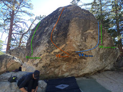 Rock Climbing Photo: Beta photo for the south side of Ranger Station Ro...