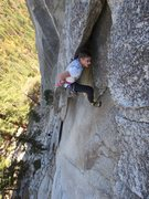 Rock Climbing Photo: Tom Michael leads the Guillotine.