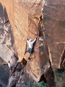 Rock Climbing Photo: Rico at the crux.  Photo by Darshan Ahluwalia.