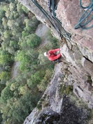 Rock Climbing Photo: The pitch above the traverse