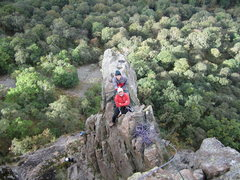 Rock Climbing Photo: Looking down on the top of the Pinnacle from the l...
