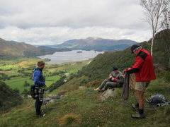Rock Climbing Photo: On top of Black crag. Great Views towards the town...
