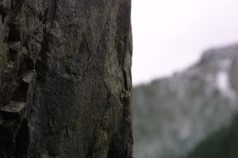 Rock Climbing Photo: View of the rock quality