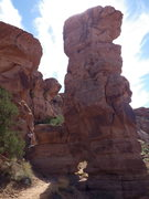 Rock Climbing Photo: start in the notch above the arch and climb that s...