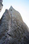 Rock Climbing Photo: Up on Fool of a Took. Awesome route!