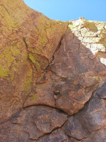 Rock Climbing Photo: 3rd pitch.  Open Book