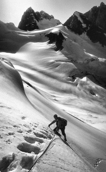 Rock Climbing Photo: Glacier below Marmolata