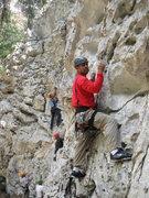 Rock Climbing Photo: Belizean adventure guide Ian Burns leading Stout U...