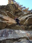 Rock Climbing Photo: Simon on Main Line