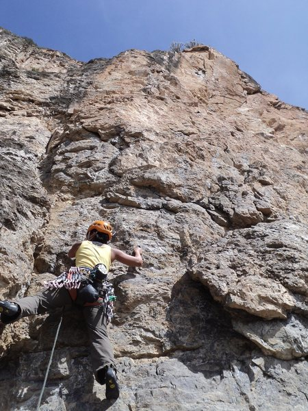 2nd Ascent party on Original Power - Fortress of Solitude, CO.